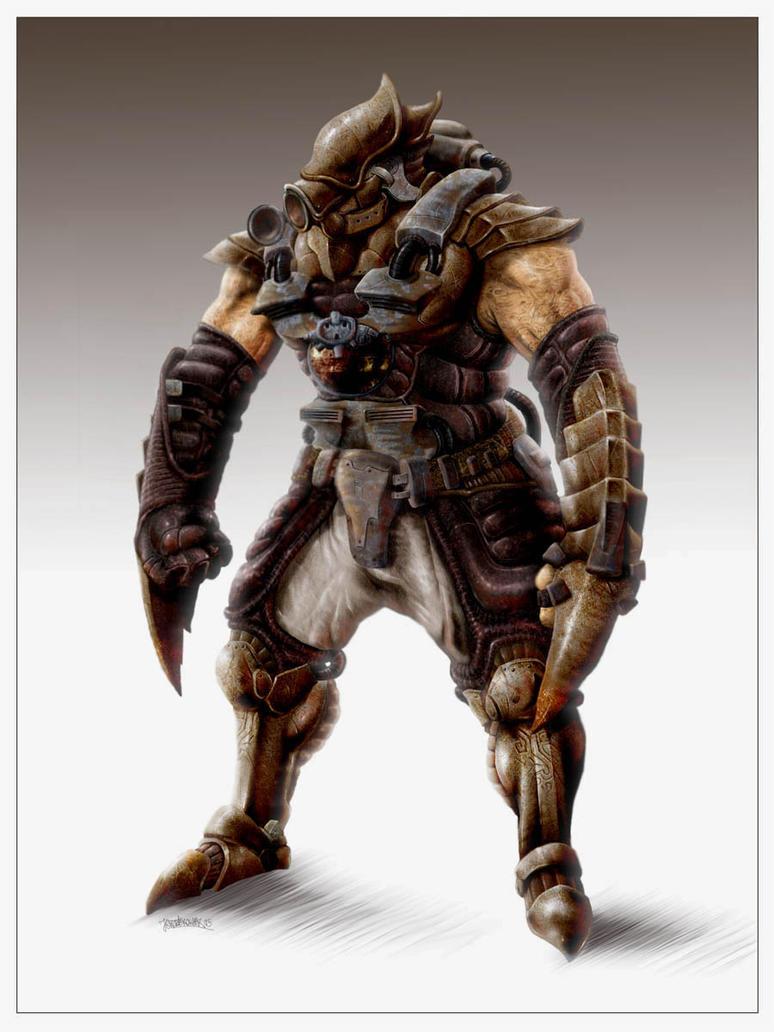 Mole Warrior by Kseronarogu