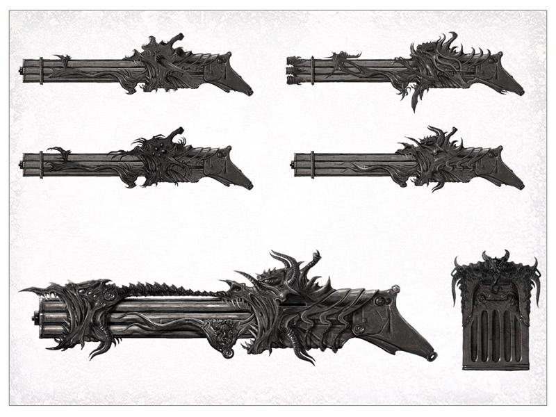 Mole Machinegun concepts by Kseronarogu