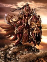 Chaos Khorne Lord by Kseronarogu