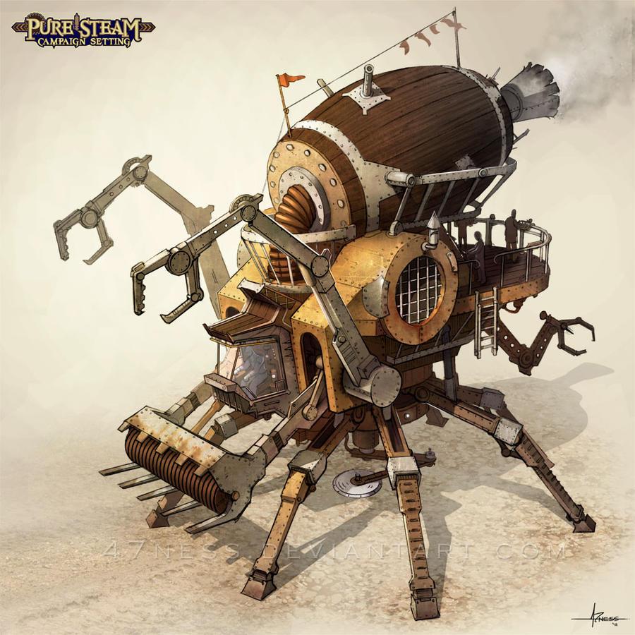 Concept Art Steampunk Tank