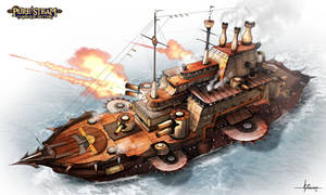 PURE STEAM - Ironclad Maritime Warship by 47ness