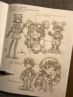 Orange Crows - Bianka's companion sketches by 47ness