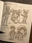 Orange Crows - Bianka's companion sketches
