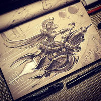 Steampunk Inktober - Day 17 by 47ness