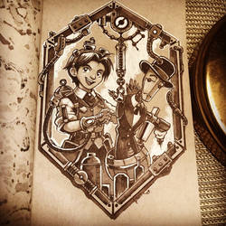 Steampunk Inktober - Day 19 by 47ness