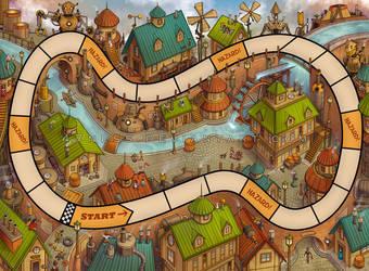 Junkyard Derby - board illustration 2 by 47ness