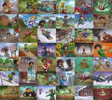 Solu Quest - card illustrations