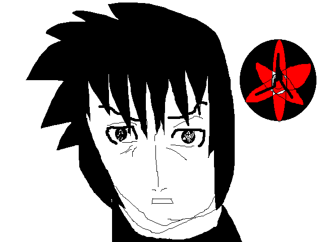Sasuke Uchiha Eternal Mangekyou Sharingan drawing by ...