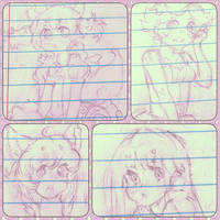 School Doodles Dump 1 by Yangspirit
