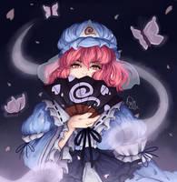 Yuyuko Saigyouji by panfilaviudaArt