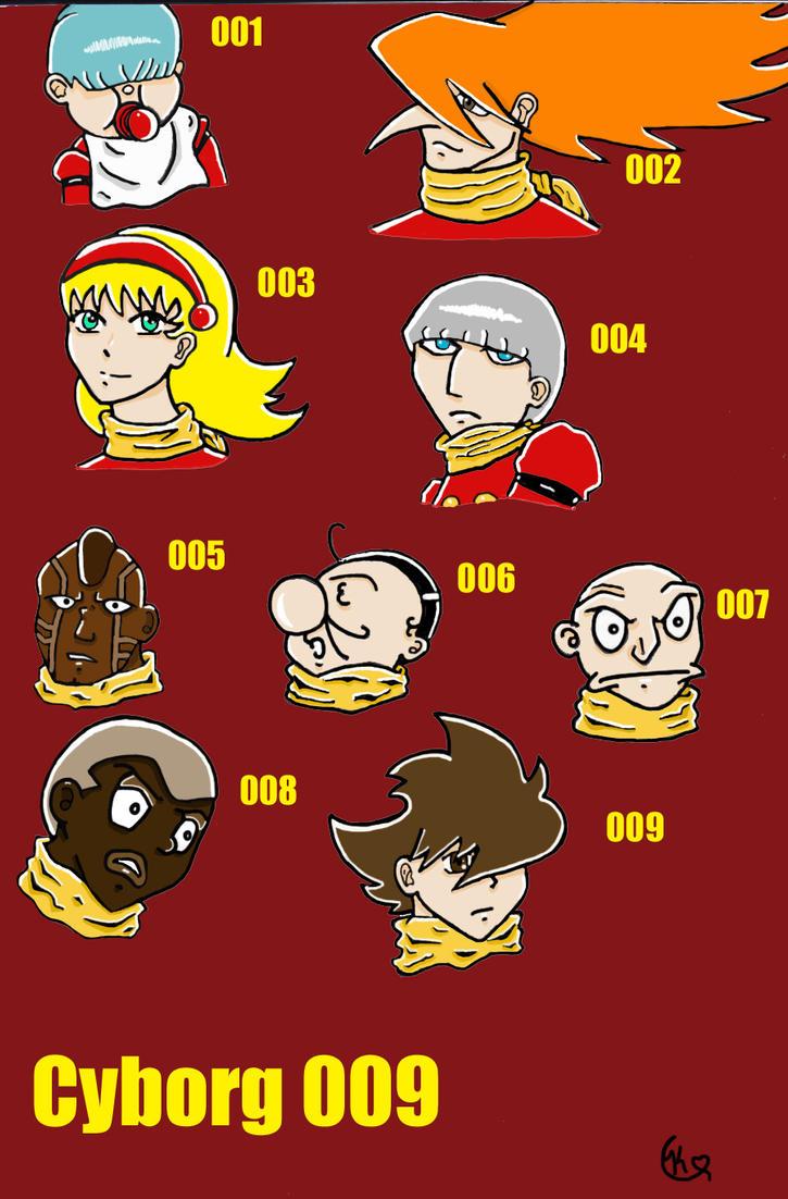 Cyborg 009 Characters by XxLonelyStarxX