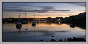 Sunset over Tasman Bridge by eehan