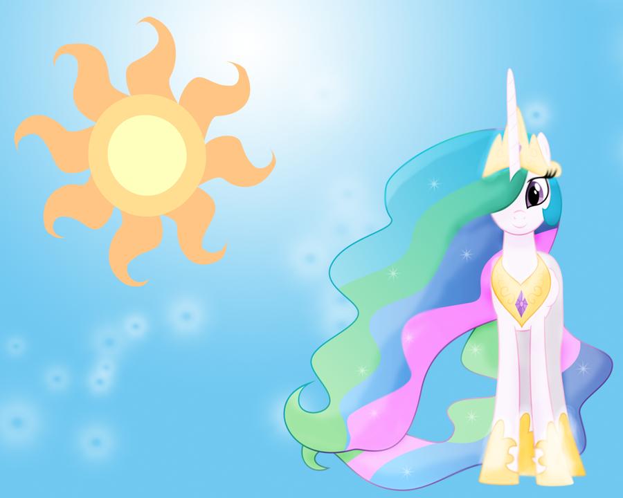 MLP: Princess Celestia Wallpaper by Togekisspika35