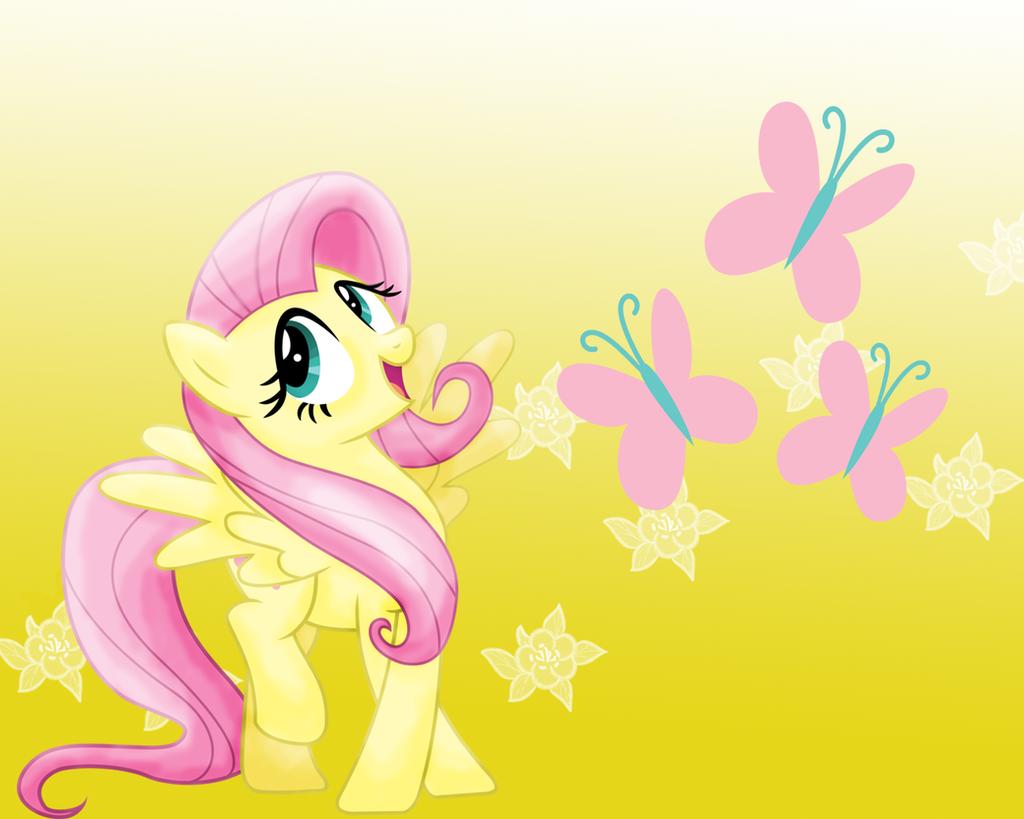 MLP: Fluttershy Wallpaper by Togekisspika35