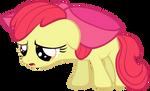 Sad Applebloom Vector