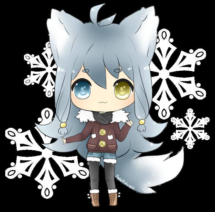 Arctic Wolf Oc Snowy By Fedemidnight On Deviantart