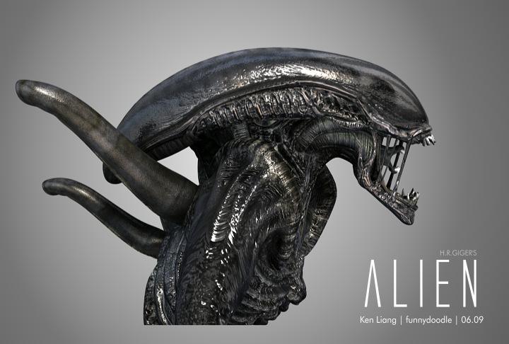 H.R.GIGER's Alien by funnydoodle on DeviantArt H.r. Giger Queen Alien