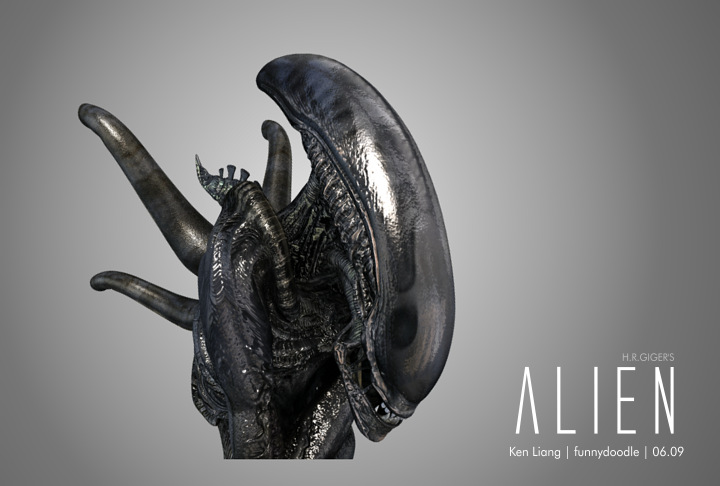 H.R.GIGER's Alien B by funnydoodle