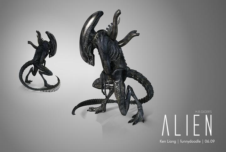 H.R.GIGER's Alien C by funnydoodle