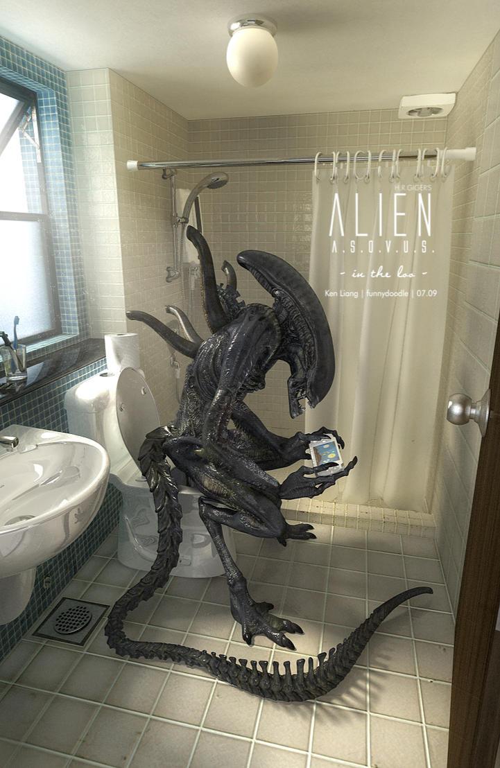 H.R.GIGER's Alien ASOVUS B by funnydoodle