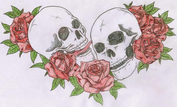 Skulls n Roses by tillikatiecam