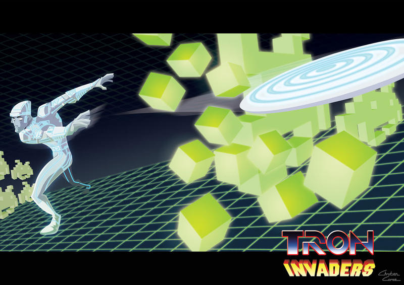 TRON vs INVADERS by ChristianCornia
