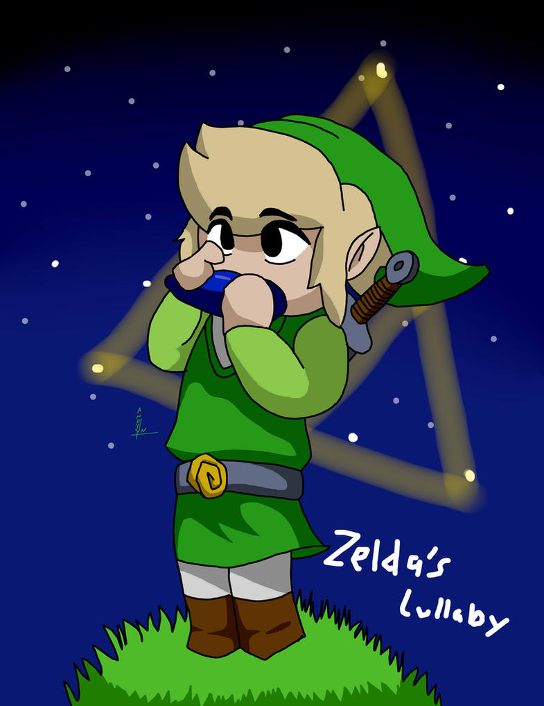 Toon Link Zelda's Lullaby by Leapoffaith4