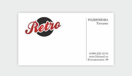 RETRO card by AntonFrank
