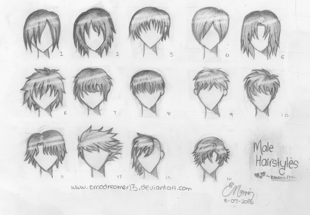 14 Male Anime Hairstyles By MadLittleW0nderland On DeviantArt