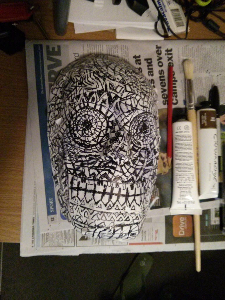 Day Of The Dead Mask 2014 by Riavan
