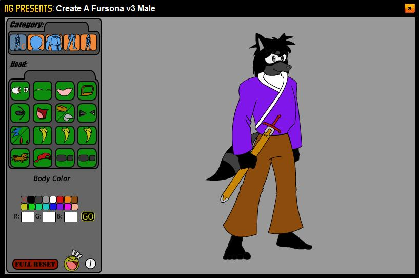 Fursona Creator: Randal by ninjafoxshadow on DeviantArt