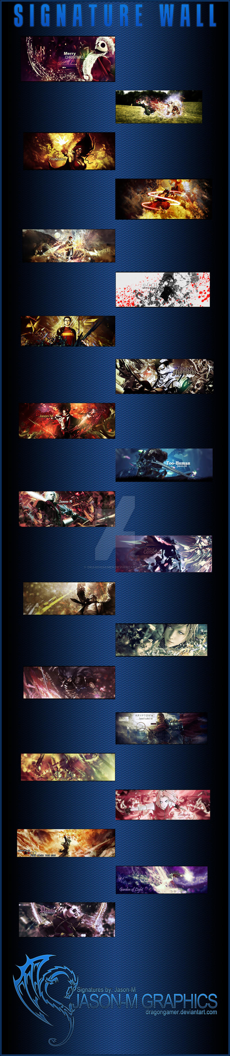 Signature Wall JMG by DragonGamer