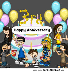 Happy 3rd Anniversary to Papa Louie Pals!