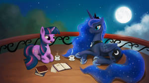 Luna and Twilight by Br0ny