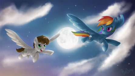 Apollo Heart and Rainbow Dash by Br0ny