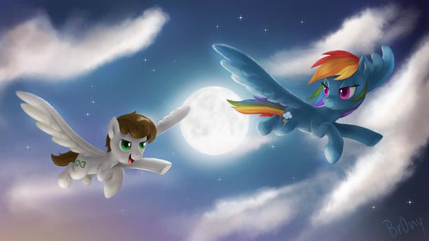 Apollo Heart and Rainbow Dash