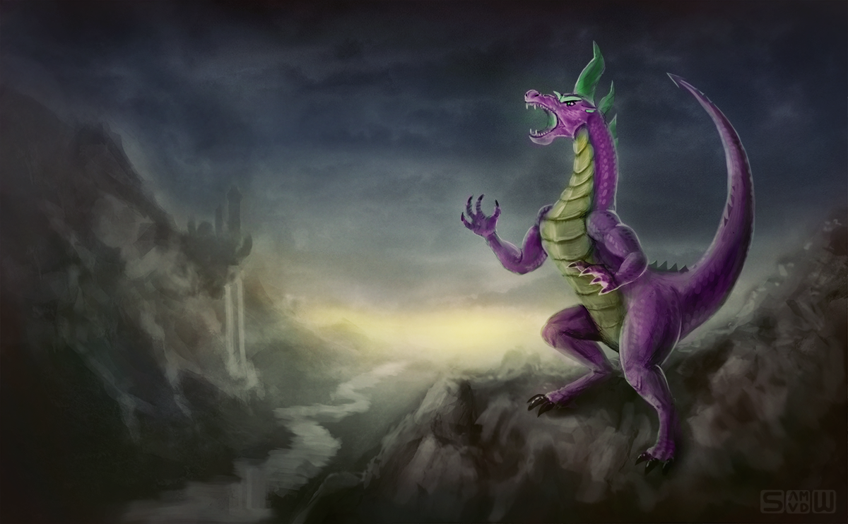 Spike the Dragon by Br0ny