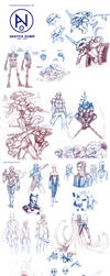 Sketch Dump II by AndrakaNuva