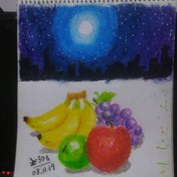 Day 160 - Oil Pastel Studies by zk306
