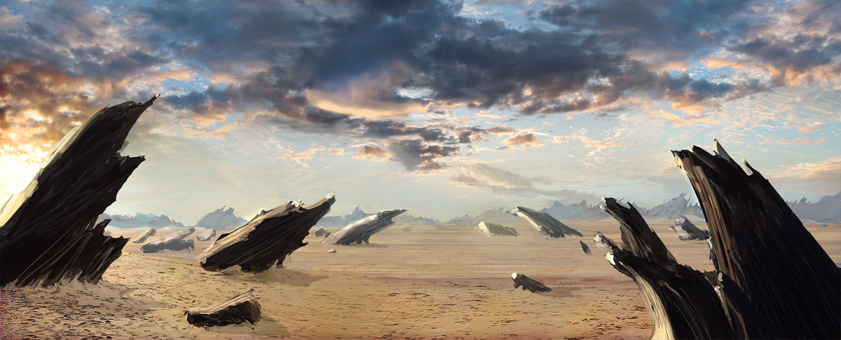 alien landscape sketch by misterCromat on deviantART