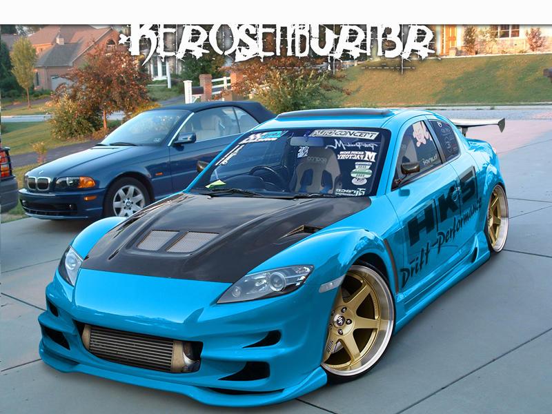mazda rx8 modified blue. mazda rx8 by kendos modified blue 8