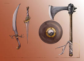 fantasy weapons by Shadowgrail