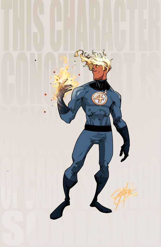 Johnny Storm by Shadowgrail