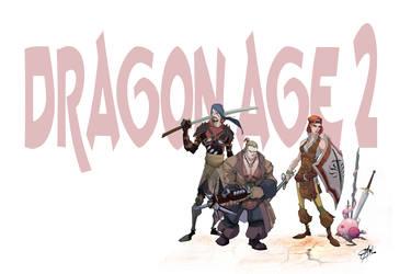 Dragon Age 2 LineUp by Shadowgrail