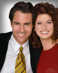 Will and Grace Digital Painting