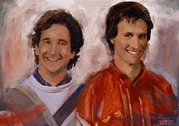 Perfect Strangers Digital Painting