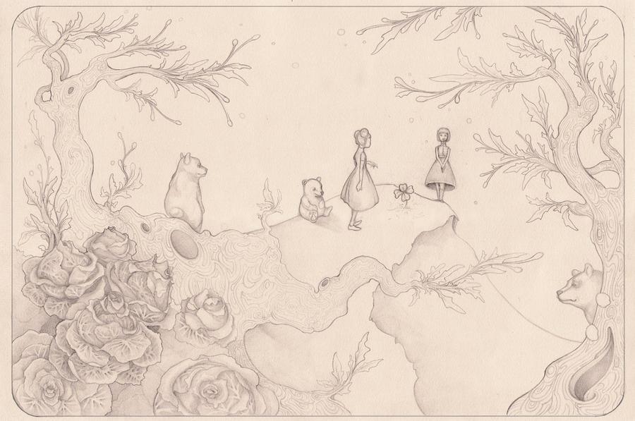Thee Bears - Pencil by elachrym