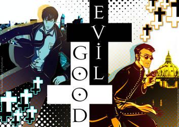 Good vs. Evil by LaDameDePique