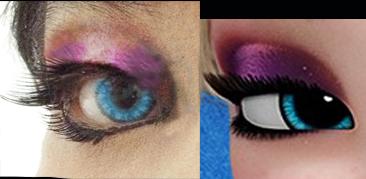 Elsa eye makeup finally by Alumiano