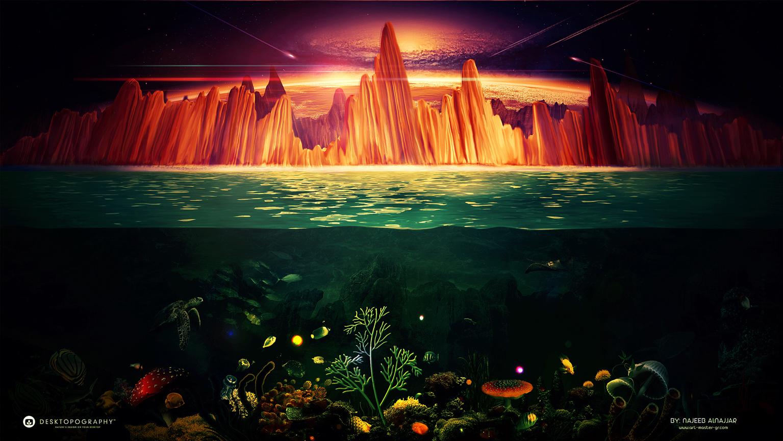 Beyond the atmosphere by Najeeb-Alnajjar